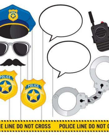 Police Party Photo Booth Props Set