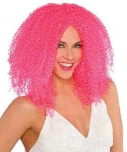 Halloween Pink Crimped Wig