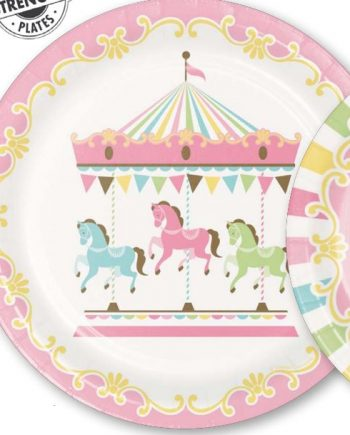 Carousel Baby Shower Party Paper Pates