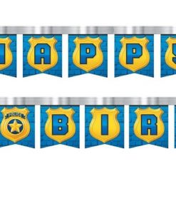 Police Party Birthday Banner