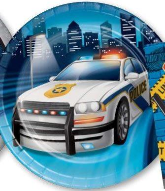 Police Paper Dessert Plates