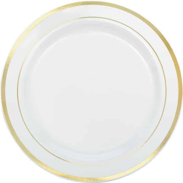 Premium Plastic Plates White with Rose Gold Trim  sc 1 st  Fun Party Supplies & Premium Plastic Plates White with Rose Gold Trim - Fun Party Supplies