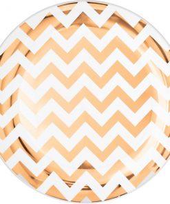 Premium Rose Gold Chevron Plastic Plates