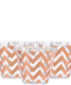 Premium Rose Gold Chevron Tumbler
