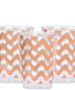 Premium Rose Gold Chevron Tumbler - 284ml