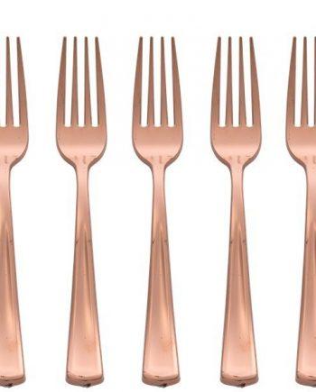 Premium Rose Gold Plastic Forks