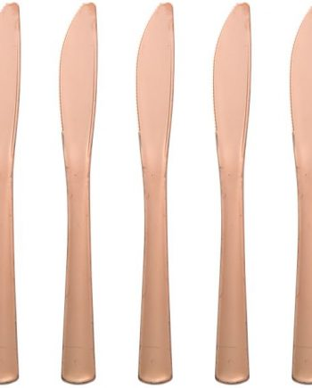Premium Rose Gold Plastic Knives