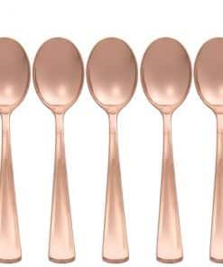 Premium Rose Gold Plastic Spoons