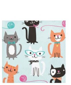 Purrfect Kitten Party Paper Beverage Napkins