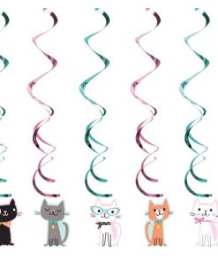 Purrfect Kitten Party Dizzy Dangler Decorations