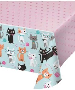 Purrfect Kitten Party Plastic Tablecover