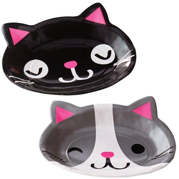Purrfect Kitten Party Shaped Plates Fun Party Supplies