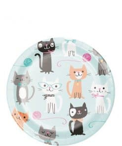 Purr-fect Party Luncheon Plate