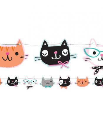 Purr-fect Party Shaped Banner - 1.7m