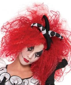 Red Crimped Halloween Wig