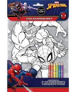 Spiderman Colouring Set