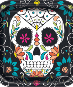 Halloween Day of the Dead Square Plates