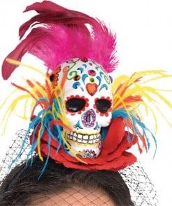 Halloween Sugar Skull Couture Headband