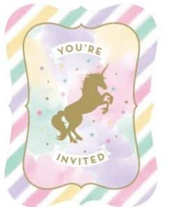Unicorn Sparkle Party Postcard Style Invitations