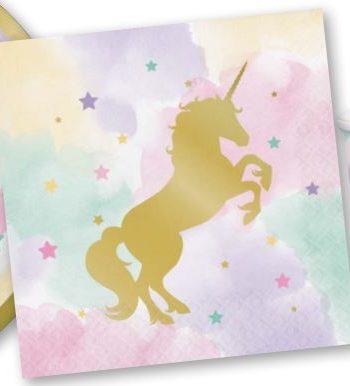 Unicorn Sparkle Party Paper Napkins