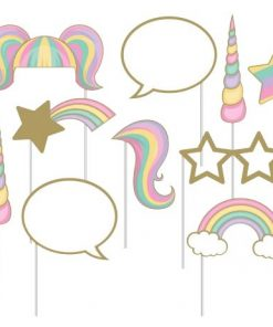 Unicorn Sparkle Party Photo Booth Props Set