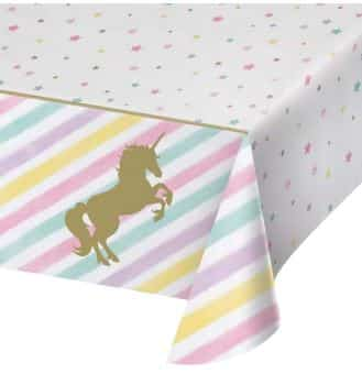 Unicorn Sparkle Party Plastic Tablecover