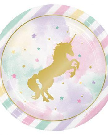 Unicorn Sparkle Party Paper Plates
