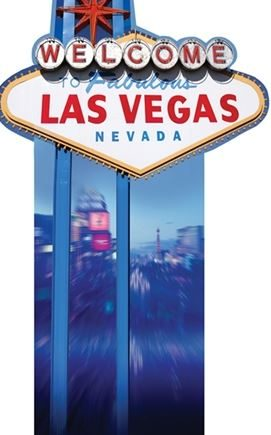 """Welcome to Vegas"" Cardboard Sign"