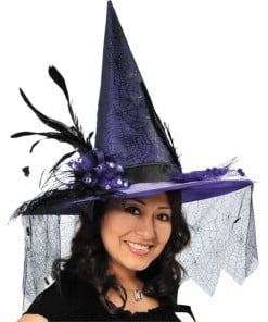 Halloween Witches Deluxe Purple hat