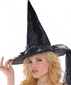 Halloween Witches Fancy Spider Bow Hat