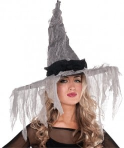 Halloween Witches Tattered Hat