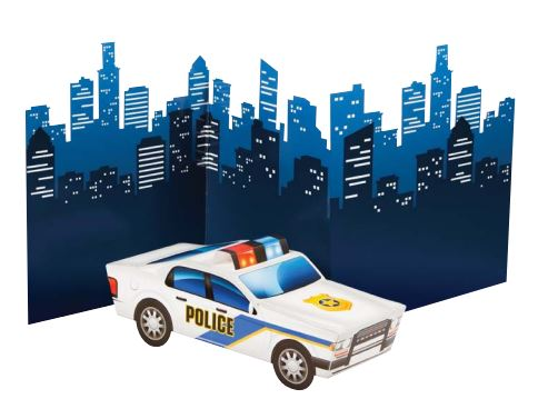 Police Party 3D Police Car Centrepiece