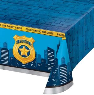 Police Party Plastic Tablecover