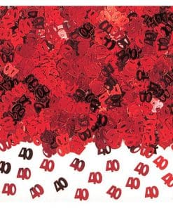 40th Anniversary Red Table Confetti