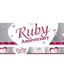 40th Ruby Wedding Anniversary Banner