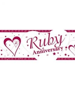 40th Ruby Wedding Anniversary Giant Banner