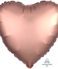 Rose Copper Heart Satin Luxe Foil Balloon