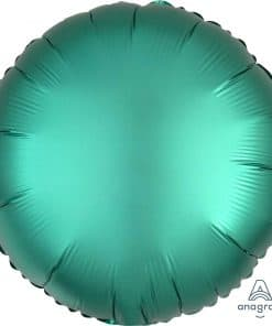 Jade Circle Satin Luxe Foil Balloon