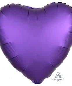 Purple Royale Heart Satin Luxe Foil Balloon