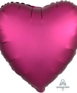 Pomegranate Heart Satin Luxe Foil Balloon
