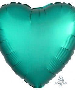 Jade Heart Satin Luxe Foil Balloon