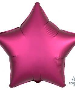 Pomegranate Star Satin Luxe Foil Balloon