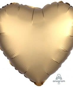 Gold Sateen Heart Satin Luxe Foil Balloon