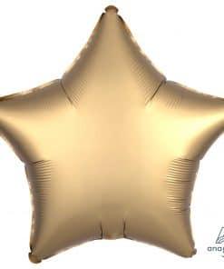 Gold Sateen Star Satin Luxe Foil Balloon