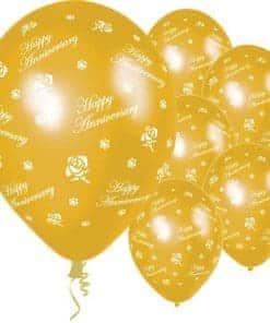 Anniversary Gold Roses Balloons
