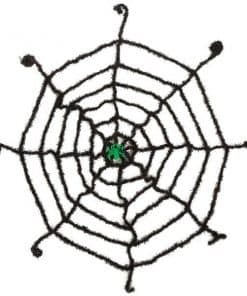 Halloween Black Spiderweb with Glow Spider