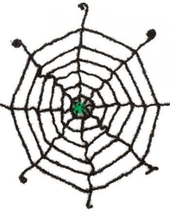 Halloween Black Spiderweb with Glow Spider
