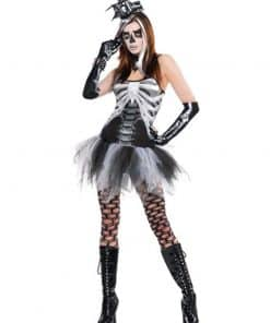 Halloween Black and Bone Dress Costume
