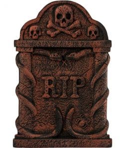 Halloween Bronze Snake and Skull Tombstone