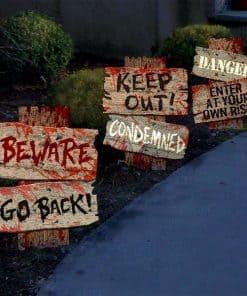 Halloween Cemetery Sidewalk Signs